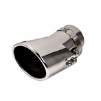Universal Polished Adjustable Muffler Tip (Stainless Steel)