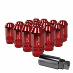 "Universal Spec-D Wheel/Rim 1.9"" 16-Piece Lug Nuts Set (Red)"