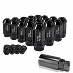 "Universal Spec-D Wheel/Rim 1.9"" 20-Piece Lug Nuts Set (Black)"