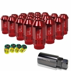 "Universal Spec-D Wheel/Rim 1.9"" 20-Piece Lug Nuts Set (Red)"