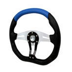 Universal Technic Style Steering Wheel 350Mm (Black/Blue)