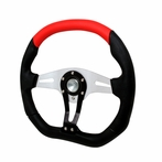 Universal Technic Style Steering Wheel 350Mm (Black/Red)
