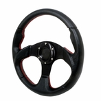 Universal Type - 2 Style Steering Wheel 320Mm (Black)