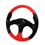 Universal Type - 2 Style Steering Wheel 320Mm  Red (Black/Red)