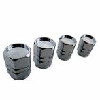 Universal Wheel Valve Cap Set - 4pc (Chrome)