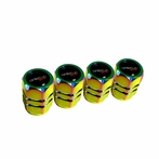 Universal Wheel Valve Cap Set - 4pc (Neo Chrome)