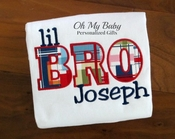 Bro Applique Shirt