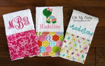 Burp Cloths and Bibs