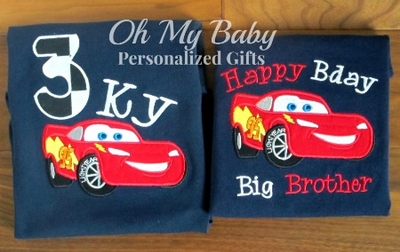 Personalized Birthday Shirt - Car