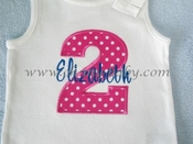 Personalized Birthday Shirt - Pink and Blue