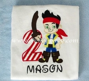Personalized Birthday Shirt - Pirate