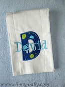 Burp Cloth - Applique Initial