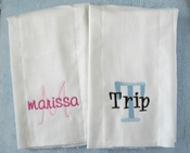 Personalized Burp Cloth - Custom Colors