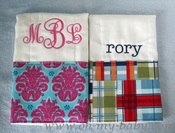 Personalized Burp Cloth - Fabric Trim