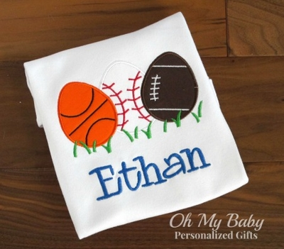 Personalized Easter Shirt - Sports Eggs