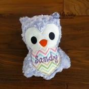 Personalized Stuffed Owl - Purple - More Colors
