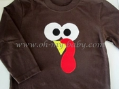 Personalized Thanksgiving Shirt - Turkey Face
