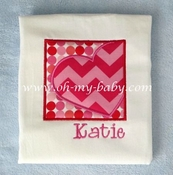 Personalized Valentine Heart Square