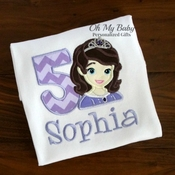 Purple Princess Birthday Shirt