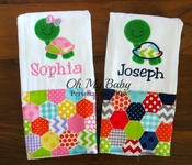Turtle Burp Cloth - Boy or Girl