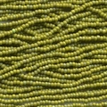 11/0 Czech Olive Opaque Matte Ab 6 String/Hnk - Appx 18 gms