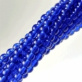 8 mm Cobalt Blue Round 50 Beads
