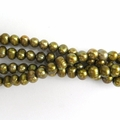 Freshwater Pearls Ant.Gold/Olive Green Patato Shape 9-10mm - 16 inch Strand