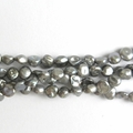 Freshwater Pearls Grey Puff Coins 6x4mm- 16 inch Strand