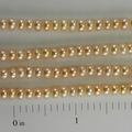 Freshwater Pearls Light Peach Flat Sided Round 3.5x4mm - 1 5inch Strand