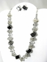 Materials for Black Cube Jewelry Set -Necklace and Earrings