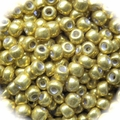 Seed Beads Rocailles Metalic Gold 8/0 Sold per pkg of 40 grams