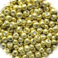 Seed Beads Rocailles Metalic Gold 9/0 Sold per pkg of 40 grams