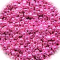Seed Beads Rocailles Metalic Hot Pink 11/0 Sold per pkg of 40 grams