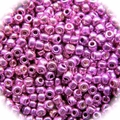 Seed Beads Rocailles Metalic Neon Pink 11/0 Sold per pkg of 40 grams