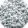 Seed Beads Rocailles Metalic Silver 11/0 Sold per pkg of 40 grams