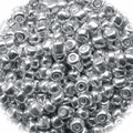 Seed Beads Rocailles Metalic Silver 8/0 Sold per pkg of 40 grams