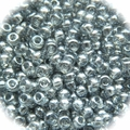 Seed Beads Rocailles Transparant Gray 11/0 Sold per pkg of 40 grams