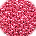 Seed Beads RocaillesMetalic Hot Red 11/0 Sold per pkg of 40 grams