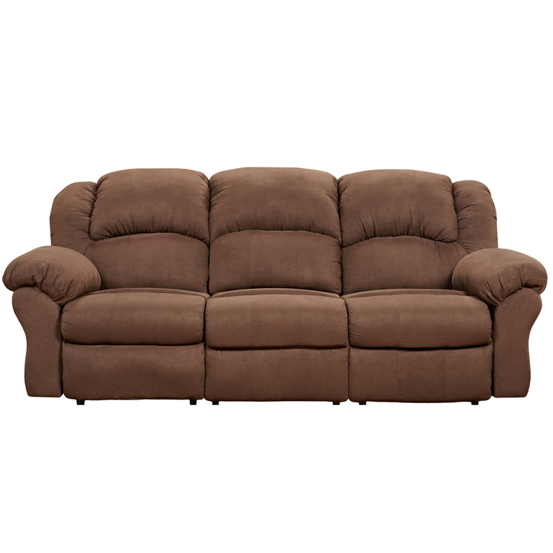 1003arubachocolate Gg on ashley brown microfiber reclining couch
