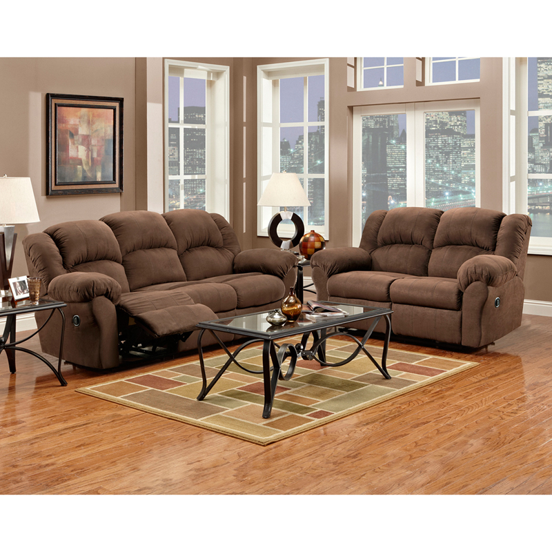 Living room set in aruba chocolate microfiber 1000arubachocolate set