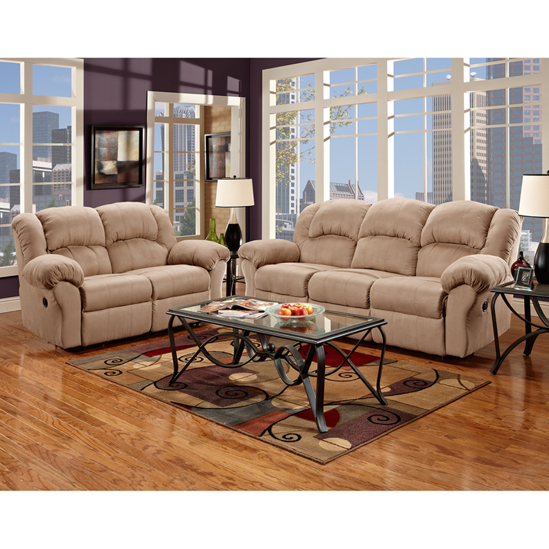 Living room set in sensations camel microfiber 1000sensationscamel set