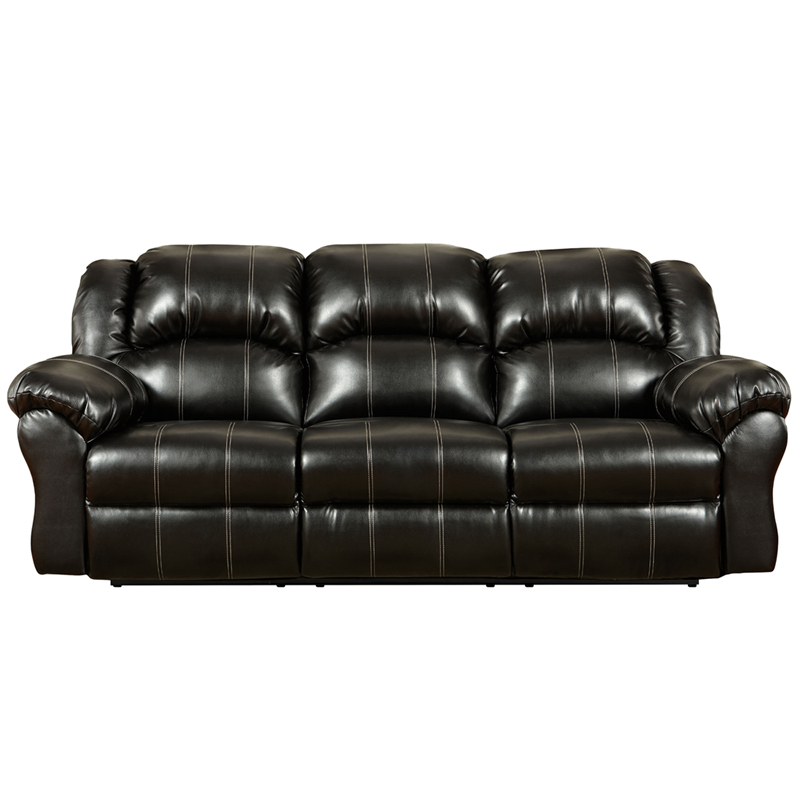 designs taos black leather reclining sofa 1003taosblack gg