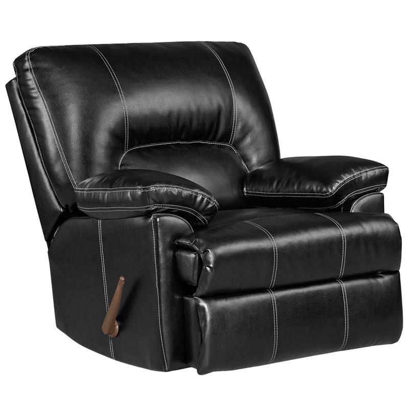 designs taos black leather rocker recliner 2800taosblack gg