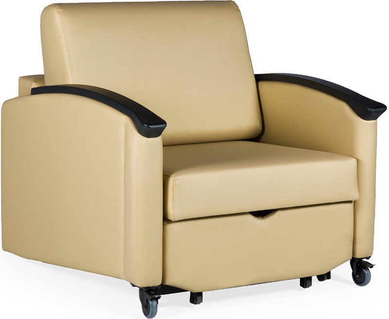 Harmony Closed Arm Sleeper Chair Grade 2 Fabric HA2800
