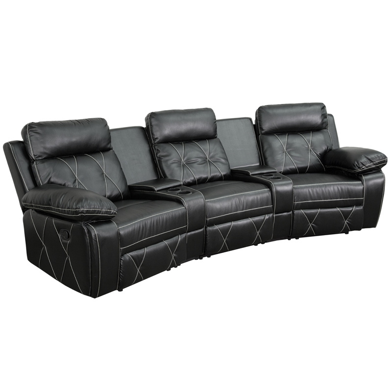 Leather Glider And Ottoman