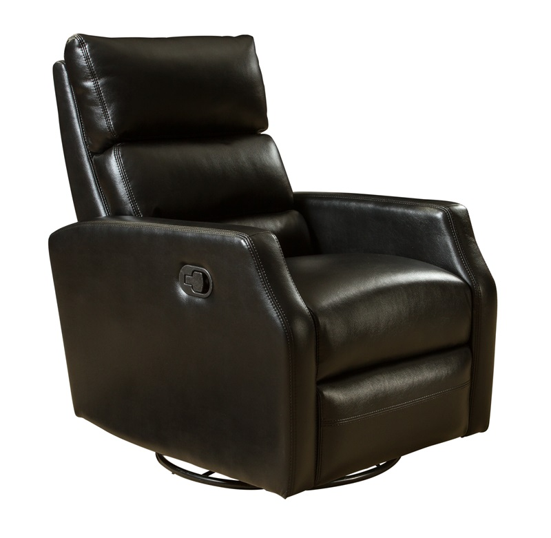 Talbot Fabric Leather Gel Swivel Glider Recliner Blanche