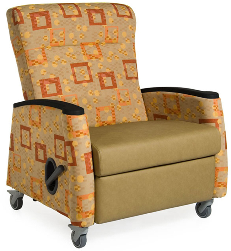 Tranquility Medical Bariatric Recliner Vinyl Upholstery