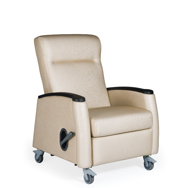 Tranquility Mobile Medical Recliner Vinyl Upholstery