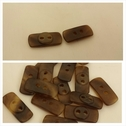 1 dozen 2 tone brown and beige unique marbel and shell 2 hole rectangular shirt button 17 mm.