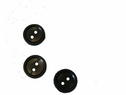 1 Dozen black 2 hole acrylic small shirt  buttons 11mm